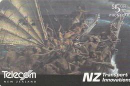 TARJETA TELEFONICA DE NUEVA ZELANDA, GREAT OCEAN. Maori Waka (Canoe). NZ-C-076. (042) - Neuseeland