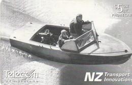 TARJETA TELEFONICA DE NUEVA ZELANDA, Hamilton Jet Boat. NZ-C-077. (045) - Boats