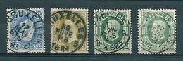 30 + 31 + 32 Gestempeld BRUXELLES 5 - 9 - 11 - 1869-1883 Léopold II