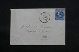 FRANCE - Enveloppe De Dax Pour Tilh En 1865 , Affranchissement Napoléon - L 31168 - Storia Postale