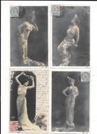 11165- Lot De 4CPA Illustrées Par REUTLINGER : LE PEPLUM,TOLEDO , Cartes Avec Paillettes - Non Classés