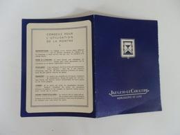 Certificat De Garantie Horloger De La Marine De L'état Horlogerie Limpalaer 1, Rue St-Georges à Perronne (80). - Other Collections