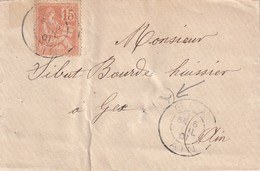 FRANCE 1901 LETTRE DE GEX - Poststempel (Briefe)