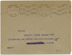 VALENCE SUR RHONE (Drome) 1949 : FÊTES DU RATTACHEMENT... Port Payé - Poststempel (Briefe)