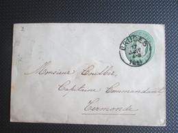 Briefomslag Nr 3 Verstuurd Uit Bruges/Brugge Naar Termonde/ Dendermonde - Stamped Stationery