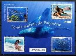 Polynésie, BF N° 46** Y Et T, Bloc - Feuillet , Fonds Marins, Timbres N° 1151 à N° 1154** - Blocs-feuillets
