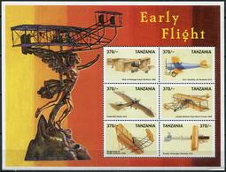 Tanzania 1999. First Aircraft (MNH OG) Miniature Sheet - Tansania (1964-...)