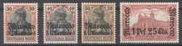 Deutsche Post Marokko Mi.Nr. 39-41 Und 43 Aus 1906 Ungebraucht * (27435) - Bureau: Maroc