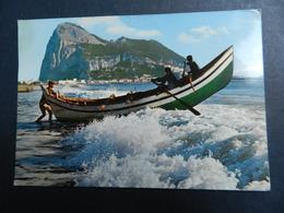 19940) EL PENON DE GIBRALTAR BARCA PESCATORI VIAGGIATA - Gibilterra