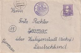 TCHECOSLOVAQUIE 1947 LETTRE CENSUREE DE KADAN - Tschechoslowakei/CSSR