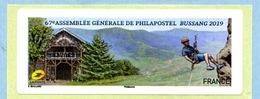 2019 BUSSANG 67ème A.G De  PHILAPOSTEL - 2010-... Vignettes Illustrées