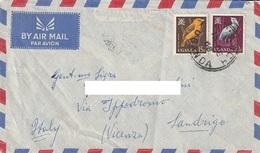 Lettera Dalla UGANDA Con Francobolli Del 1965 Inviata A Sandrigo Nel 1968 - Uganda (1962-...)
