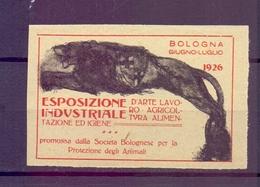 CINDERELLA ERINNOFILIA ESPOSIZIONE INDUSTRIALE 1926 BOLOGNA (GIUGN1900B10) - Erinnofilia