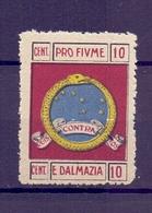 CINDERELLA ERINNOFILIA PRO FIUME DALMAZIA (GIUGN1900B11) - Erinnofilia