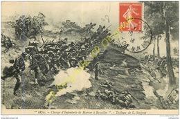 08. 1870 . Charge D'Infanterie De Marine à BAZEILLES . Tableau De L. Sergent . - France