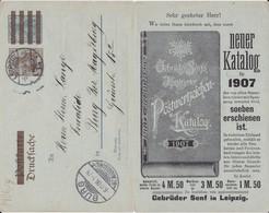 DR Germania Ganzsache PZD 2 X Privater Zudruck Leipzig 1906 - Deutschland