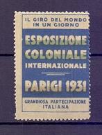 CINDERELLA ERINNOFILIA ESPOSIZIONE COLONIALE PARIGI 1931(GIUGN1900B18) - Erinnofilia