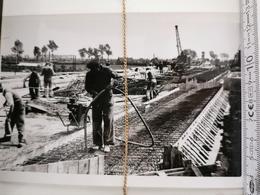 Photo Original 1950. Reconstr. Pont De Balgerhoeke  Rte 10 - Eeklo