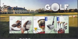 "Australia 2011 ""Golf"" M/S Used - Used Stamps"