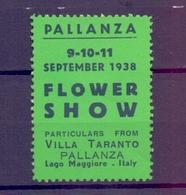CINDERELLA ERINNOFILIA PALLANZA 1938 FLOWER SHOW LAGO MAGGIORE  (GIUGN1900B26) - Erinnofilia