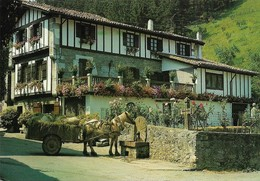 Lesaka Maison Typique Basque (2 Scans) - Attelages