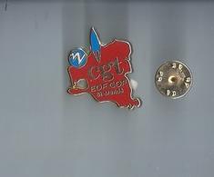 Pins - Cgt   - Signe Metargent - -rare - - EDF GDF