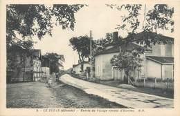 CPSM 33 Gironde Le Tuzan Entrée Du Village Venant D'Hostens - Francia