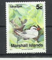 MARSHALL ISLANDS 1990 -  RED TAILED TROPICBIRD (PHAETON RUBRICAUDA) -  MNH MINT NEUF NUEVO - Oiseaux