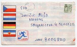 1976 YUGOSLAVIA, SERBIA, BEOGRAD, SPECIAL COVER: EUROPEAN FOOTBALL CHAMPIONSHIP, CANCELATION PANCEVO 1978 - 1945-1992 Socialist Federal Republic Of Yugoslavia