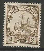 Kiauchau - 1901 Kaiser's Yacht 3pf  MH *    Sc 10 - Colony: Kiauchau