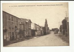 63 . CHIGNAT VERTAIZON . RECETTE BURALISTE ET ROUTE NATIONALE - France