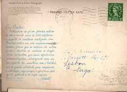 Great Britain & Marcofilia, Trafalgar Square, Pentotal Sódico, London To Lisboa Portugal 1966 (6868) - 1952-.... (Elizabeth II)