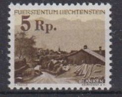 Liechtenstein 1949 Freimarke - Provisorium Planken Ovptd 1v ** Mnh (42972) - Unused Stamps