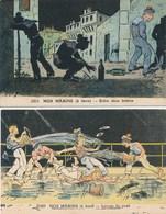 ♥ LOT DE 2 CARTES Carte Humoristique NOS MARINS  Illustrateur A.P. JARRY - Illustrators & Photographers