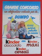 KINDER GRANDE CONCORSO DUMBO 1991 CARTELLA PUNTI - Non Classificati