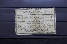 FRANCE - Bon De Cinq Sous Remboursable En Assignats De 50 Livres Du Canton De Trimouille - L 31202 - Bons & Nécessité