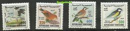 2001-Tunisie-Oiseaux De Tunisie-Cigogne Blanche-Bec-croisé– Geai Des Chênes-Mésange-Charbonnière– Série Compl.4v.MNH** - Other