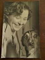 Oude Foto Originele 1956 MARIETTE  CASIER  Met HOND - Identified Persons