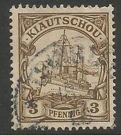 Kiauchau - 1901 Kaiser's Yacht 3pf  Used    Sc 10 - Colony: Kiauchau