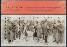 TUVALU, 2019, MNH,WWI, CHRISTMAS TRUCE,  SHEETLET - Guerre Mondiale (Première)