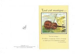 Double Cpm Illustration Symphonie - Hector Tamayo - Musique Violon - Musique Et Musiciens