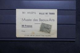 FRANCE - Vignette Sur Ticket D 'entrée Du Musée Des Beaux Arts De Tours - L 31208 - Commemorative Labels