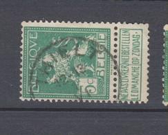 COB 110 Oblitération Centrale THIELT - 1912 Pellens
