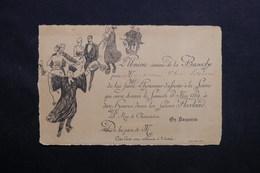 FRANCE - Carte D'invitation De L 'Union Intime De La Bazoche à Une Soirée En 1889 - L 31213 - Faire-part