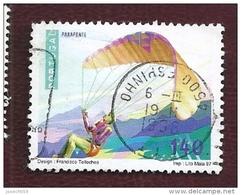 N° 2165 Sports Extrêmes Parapente 140   Timbre Portugal Oblitéré 1997 - Oblitérés