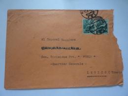 """Busta Viaggiata """"Caporal Maggiore Com. Divisione FRULI Quartier Generale"""" 1946 - 5. 1944-46 Luogotenenza & Umberto II"""