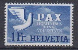 Switzerland 1945 PAX 1fr ** Mnh (42977) - Switzerland