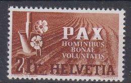 Switzerland 1945 PAX 2fr ** Mnh (42977A) - Switzerland