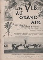 LA VIE AU GRAND AIR 26 08 1900 DEAUVILLE / TROUVILLE - NATATION PLONGEON - CYCLISME - AUTOMOBILE - LUTTE SUISSE - CHASSE - 1900 - 1949