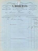 BRUXELLES 1873 - A. BORREMANS - Fonderie En Caractères D'imprimerie, Outillage & Ustensile D'imprimerie, Fleurons... - Imprenta & Papelería